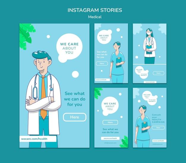 Instagram-geschichten zur medizinischen versorgung