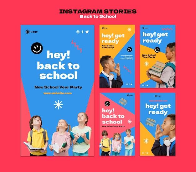 Instagram-geschichten zurück in die schule