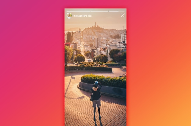 Instagram-geschichtenmodell