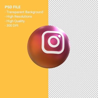 Instagram logo 3d ballon symbol rendering isoliert