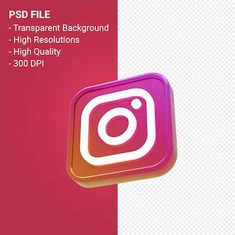 Instagram logo 3d icon rendering isoliert