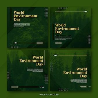 Instagram post bundle vorlage zum weltumwelttag