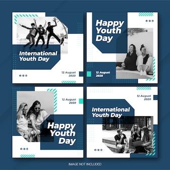 Instagram post bundle zum internationalen jugendtag