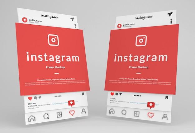Instagram post frame interface modell