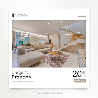 Instagram-post für innenarchitektur premium psd