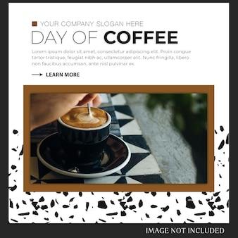 Instagram-post oder banner-vorlage zum weltkaffeetag