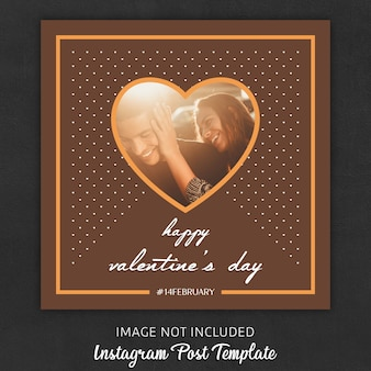 Instagram post templates zum valentinstag