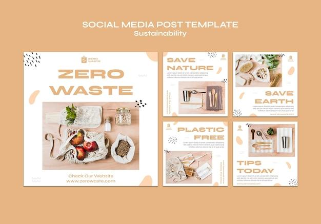 Instagram postet sammlung für zero waste lifestyle