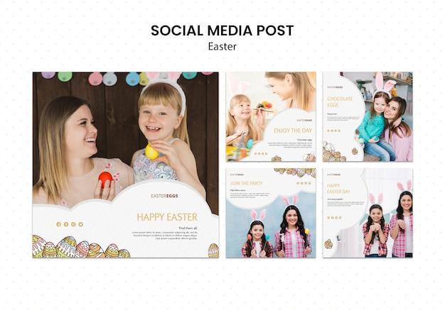 Instagram-postsammlung für ostern