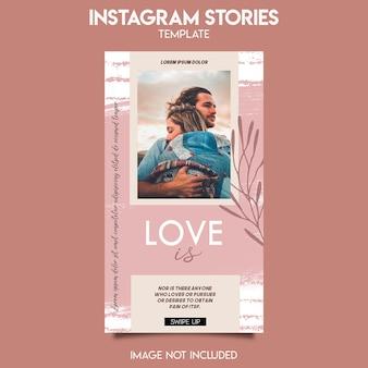 Instagram-postvorlage für liebesgeschichte