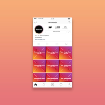 Instagram profilmodell