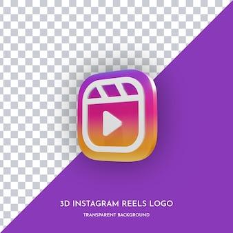 Instagram-rollen 3d-stil-symbol