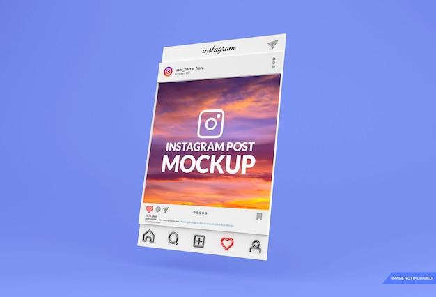 Instagram social media post mockup design