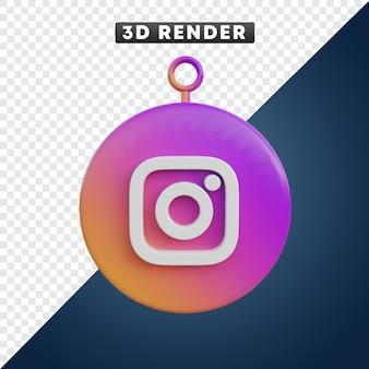 Instagram-social-media-symbol 3d-objekt