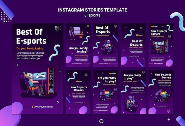 Instagram stories-sammlung für das beste aus e-sport Kostenlosen PSD