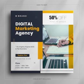 Instagram-story für unternehmen und social-media-beitragsvorlage für digitales marketing für unternehmen