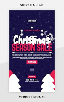 Instagram-story-vorlage für den weihnachtsverkauf