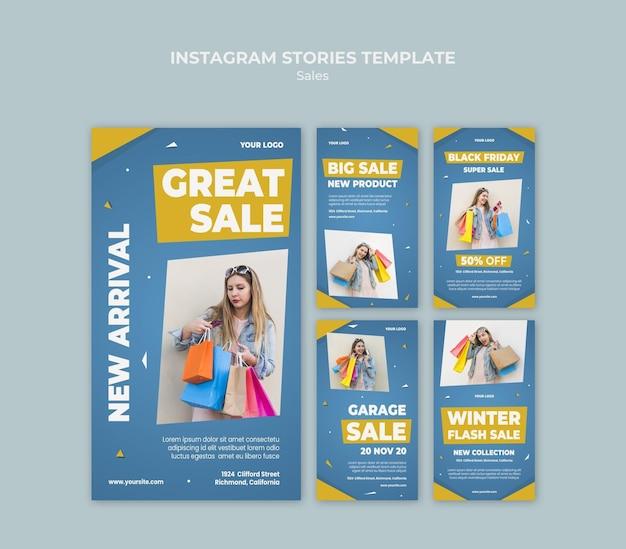 Instagram-storysammlung für den einzelhandel