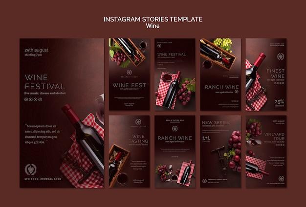 Instagram-storysammlung für weinproben