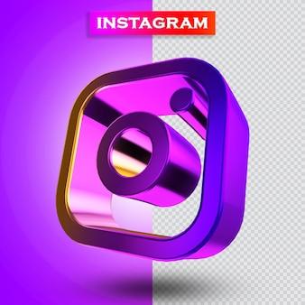 Instagram-symbol 3d render modern
