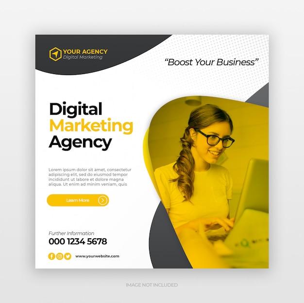 Instagram-vorlage für marketing für unternehmen und digitales business