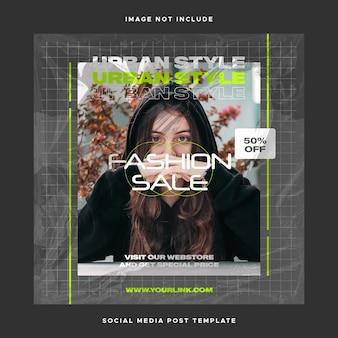 Instagram-vorlage für social media design