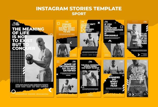 Instagram-vorlage für trainingsprozess-instagram-geschichten