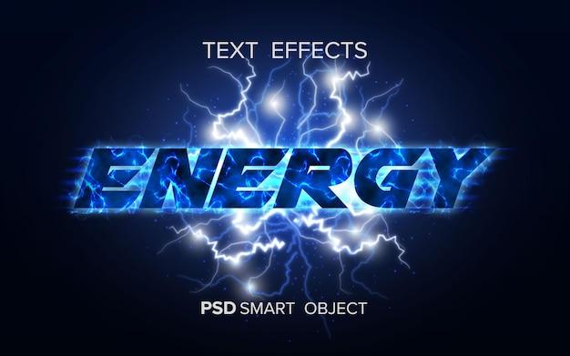 Intelligentes objekt mit energietexteffekt