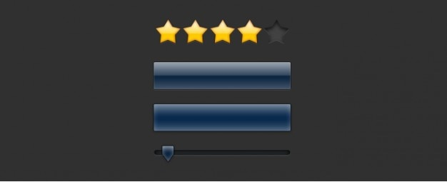Interface-elemente mit star rating icons