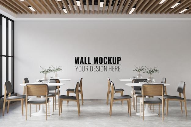 Interieur coffee shop wandmodell