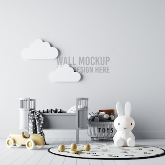 Interieur kinderzimmer wallpaper mockup
