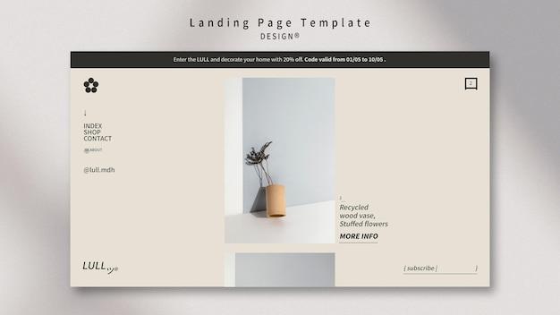 Interieur-landingpage entwerfen