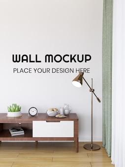 Interieur wohnzimmer wallpaper mockup