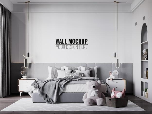 Interior kinderzimmer wallpaper mockup