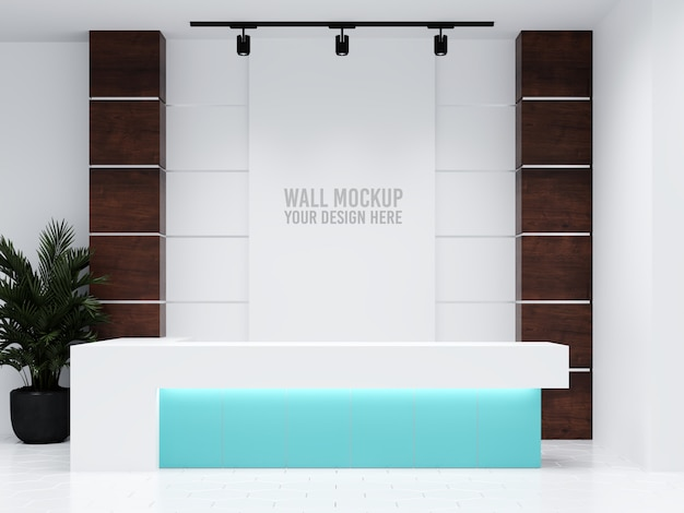 Interior medical clinic wandmodell
