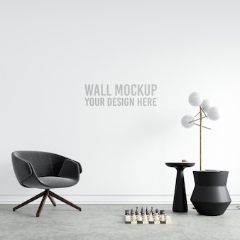 Interior wallpaper mockup