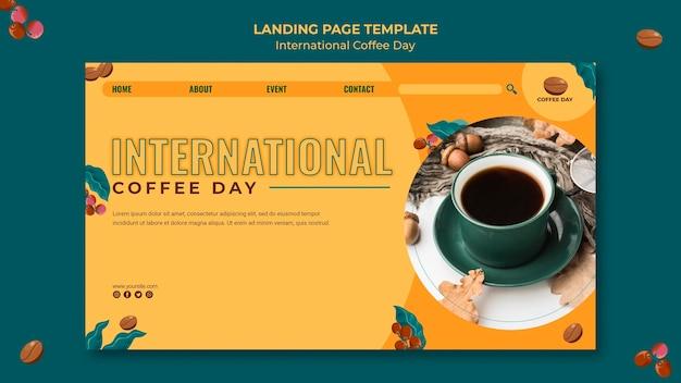 Internationale kaffeetag-landingpage