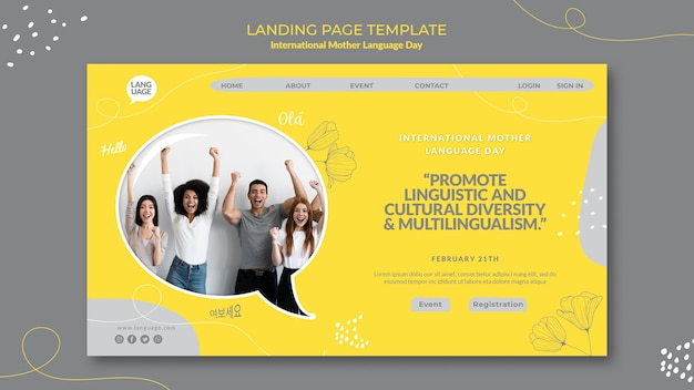 Internationale landingpage zum tag der muttersprache