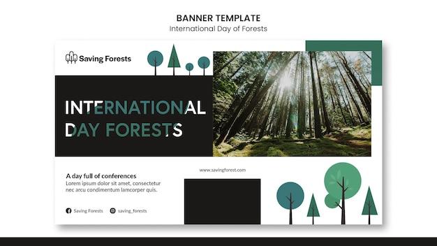 Internationale tag der wälder banner vorlage