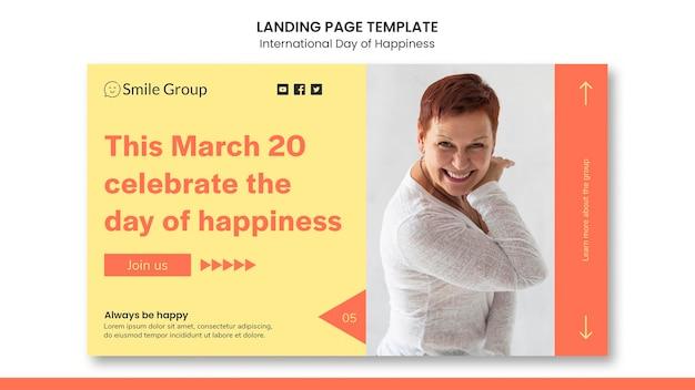 Internationale tag des glücks landing page