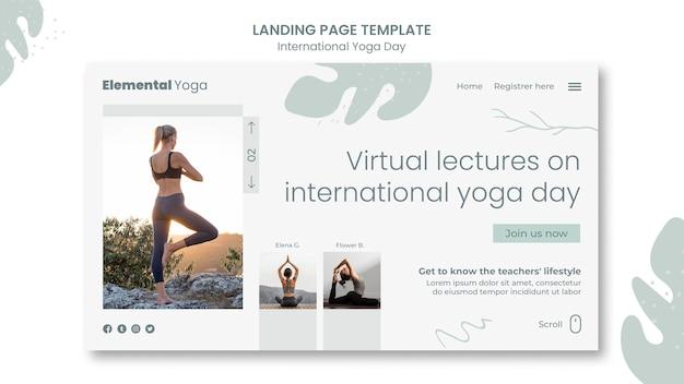 Internationale yogatag landing page