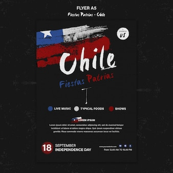 Internationaler chile day flyer