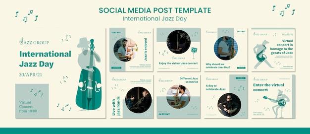 Internationaler jazz day social media post