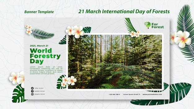 Internationaler tag der wälder banner