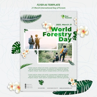Internationaler tag der wälder flyer