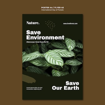 Internationaler tag der wälder plakat