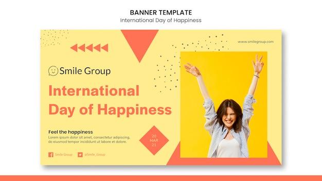 Internationaler tag des glücks banner