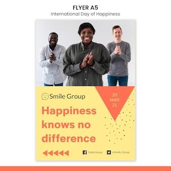 Internationaler tag des glücks flyer