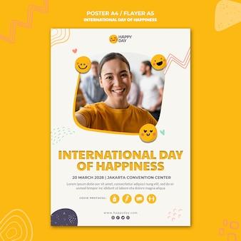 Internationales tag des glücksplakats