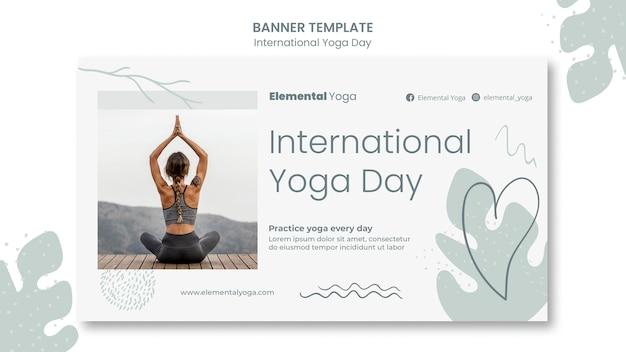 Internationales yoga tagesbanner
